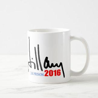 """HILLARY FOR PRISON 2016"" COFFEE MUG"