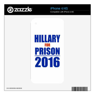 Hillary for Prison 2016 iPhone 4S Skins