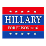 """HILLARY FOR PRISON 2016"" POSTCARD"