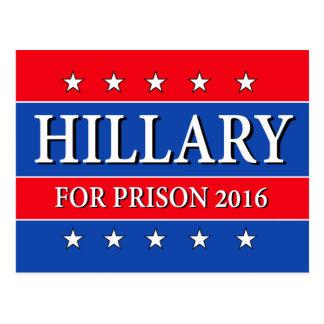 """HILLARY FOR PRISON 2016"" POSTCARD"