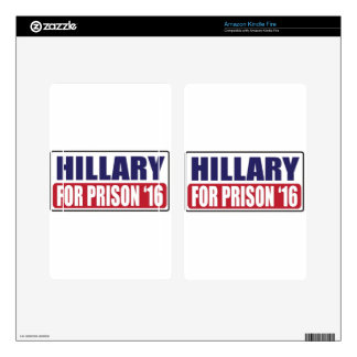 Hillary for Prison 2016 Skins For Kindle Fire