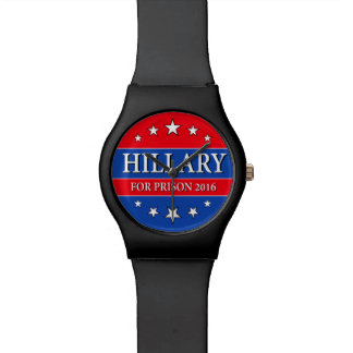 """""""HILLARY FOR PRISON 2016"""" WRISTWATCHES"""