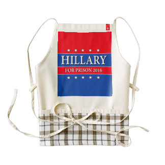 """HILLARY FOR PRISON 2016"" ZAZZLE HEART APRON"