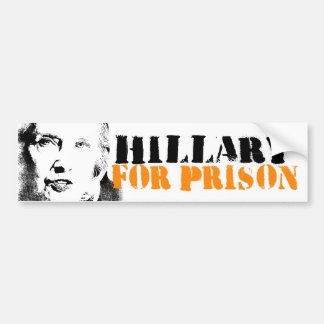 Hillary for Prison - Anti-Hillary Graffiti - - .pn Bumper Sticker