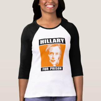 Hillary for Prison - Orange - - Anti-Hillary - T-Shirt