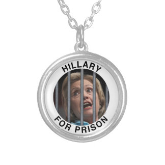 Hillary for Prison Round Pendant Necklace
