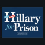 "Hillary for Prison Yard Sign<br><div class=""desc"">Hillary for Prison yard signs by the Liberty Maniacs.</div>"
