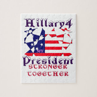 Hillary For USA President We are Stronger Together Jigsaw Puzzle