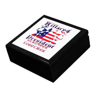 Hillary For USA President We are Stronger Together Keepsake Box