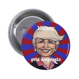Hillary gets desperate-Trump hair button
