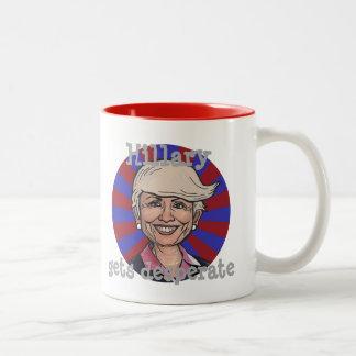 Hillary gets desperate-Trump hair mug