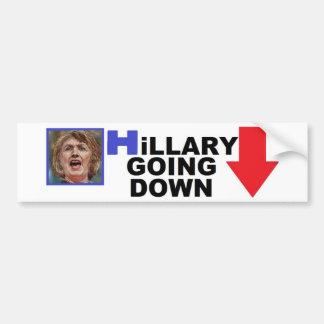 HILLARY GOING DOWN - Bumper Sticker