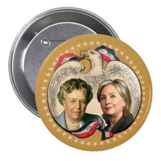 Hillary & her heroine pinback button