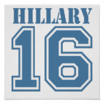 HILLARY IN 2016.png Poster