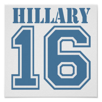HILLARY IN 2016.png Posters