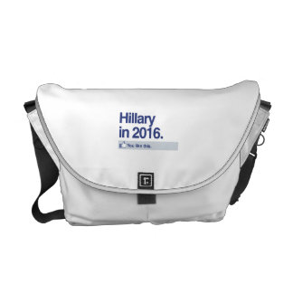 HILLARY IN 2016 - YOU LIKE THIS.png Courier Bags