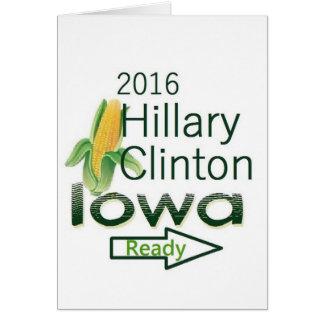 Hillary IOWA 2016 Card