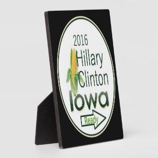 Hillary IOWA 2016 Display Plaque