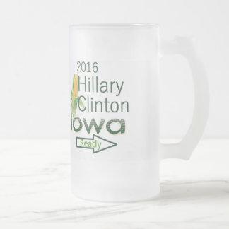 Hillary IOWA 2016 Taza De Cristal