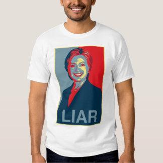 Hillary is a Liar (Men's T-shirt) T Shirt