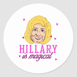 Hillary is Magical - pink -- Election 2016 - Classic Round Sticker