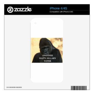 hillary joke iPhone 4 skin