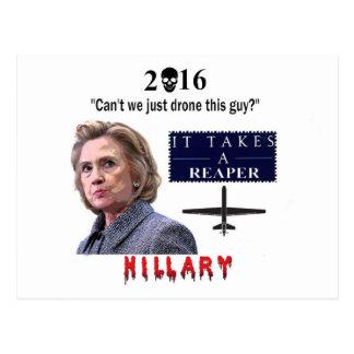 Hillary (Killery) Drone Postcard