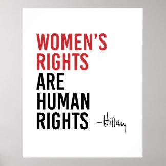 Hillary - las derechas de las mujeres son los póster