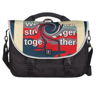 Hillary los E.E.U.U. somos más fuertes juntos Bolsa Para Ordenador