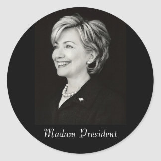 Hillary Madam President Sticker