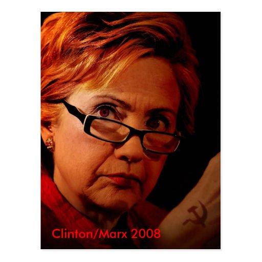 Hillary Marx Clinton Post Card