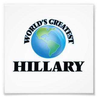 Hillary más grande del mundo impresion fotografica