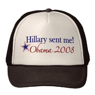 ¡Hillary me envió! (Obama 2008) Gorras De Camionero