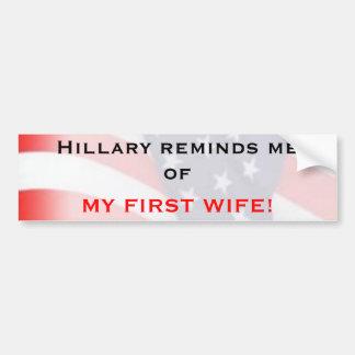 Hillary me recuerda… pegatina para auto