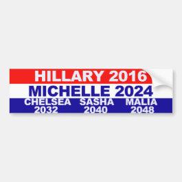 Hillary, Michelle, Chelsea, Sasha, Malia