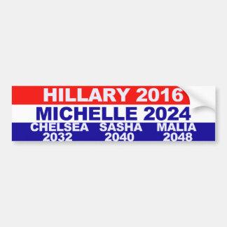 Hillary Michelle Chelsea Sasha Malia Pegatina De Parachoque