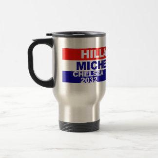 Hillary, Michelle, Chelsea, Sasha, Malia Travel Mug