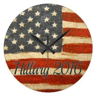Hillary Mrs President 2016 Large Clock