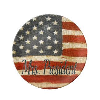Hillary Mrs President 2016 Porcelain Plates