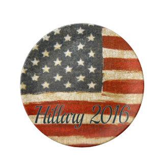 Hillary Mrs President 2016 Porcelain Plate