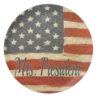 Hillary Mrs President 2016 Dinner Plates