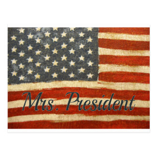 Hillary Mrs President 2016 Postcard