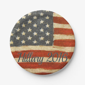 Hillary Mrs President 2016 7 Inch Paper Plate