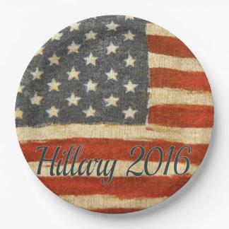 Hillary Mrs President 2016 9 Inch Paper Plate