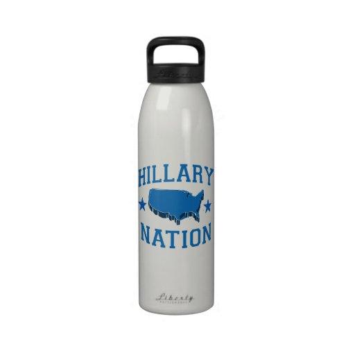 HILLARY NATION.png Botellas De Agua Reutilizables