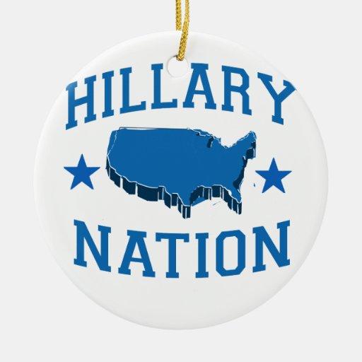 HILLARY NATION.png Ornamento Para Arbol De Navidad
