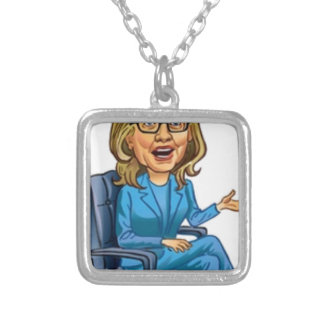 Hillary Square Pendant Necklace