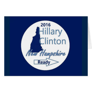 Hillary NEW HAMPSHIRE 2016 Card