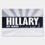 HILLARY NYC MAYOR -.png Lawn Signs