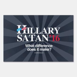 Hillary o Satan - blanco anti del png de Hillary - Letrero